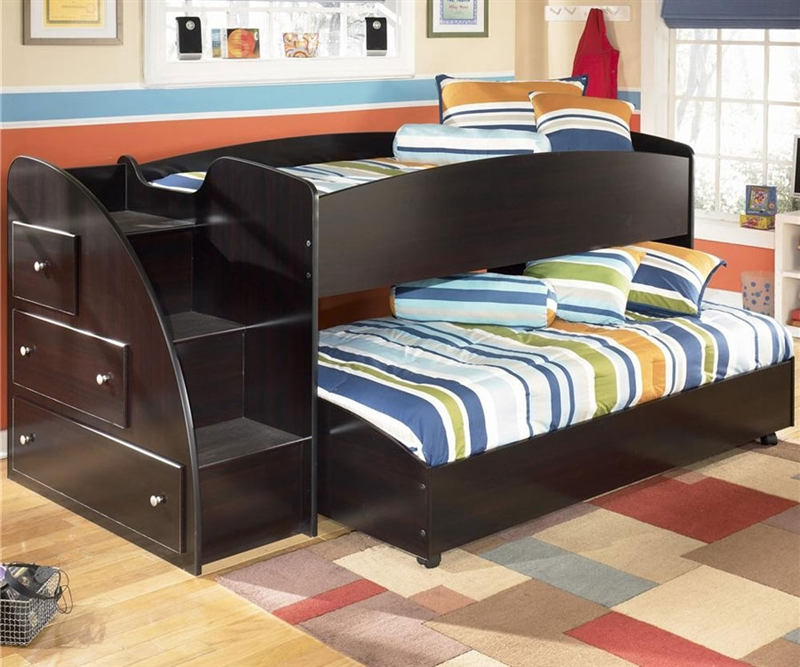 Picture of: Black Loft Beds with Storage