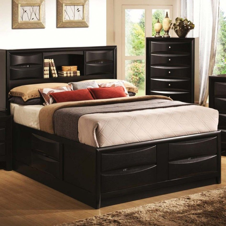 Picture of: Black Modern Storage Bed