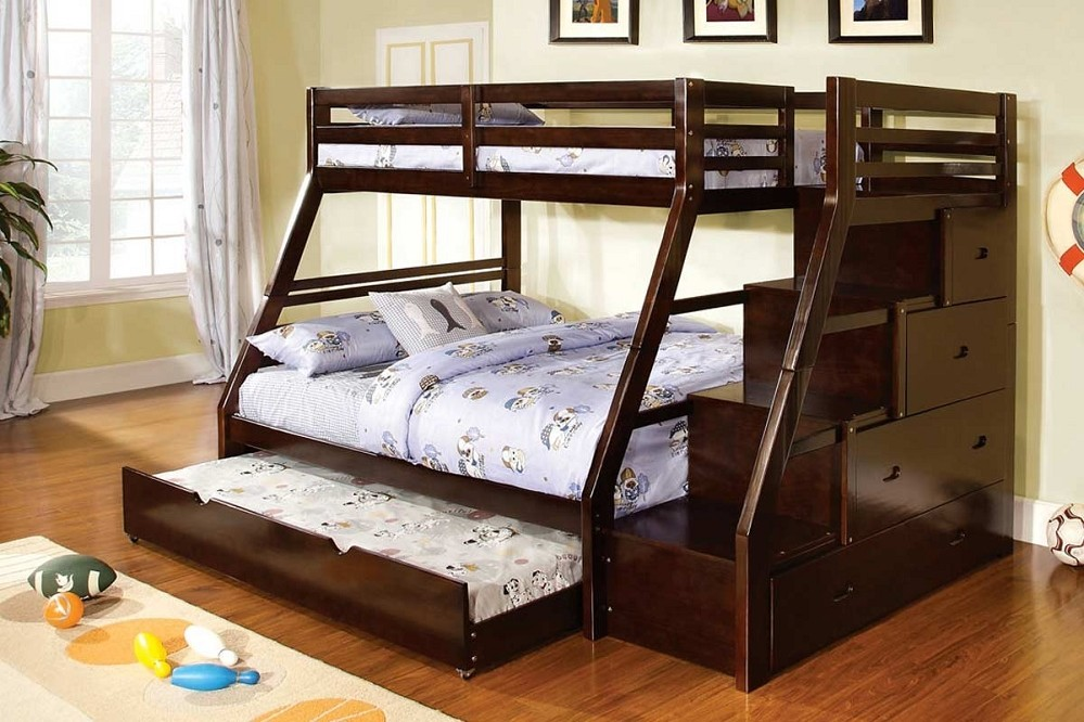 Image of: Black Twin Bunk Beds With Storage