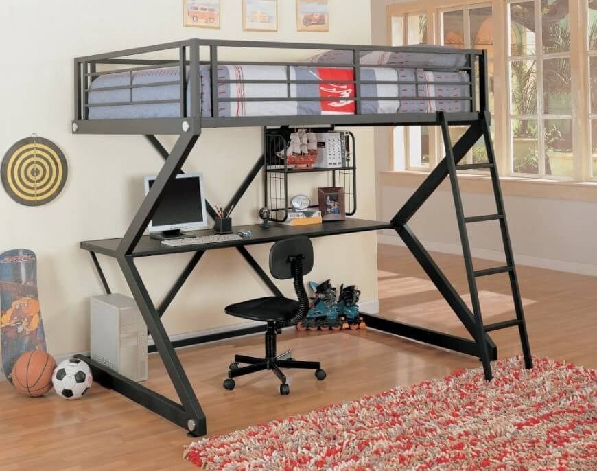 Picture of: Boys Bunk Beds With Storage and Desk