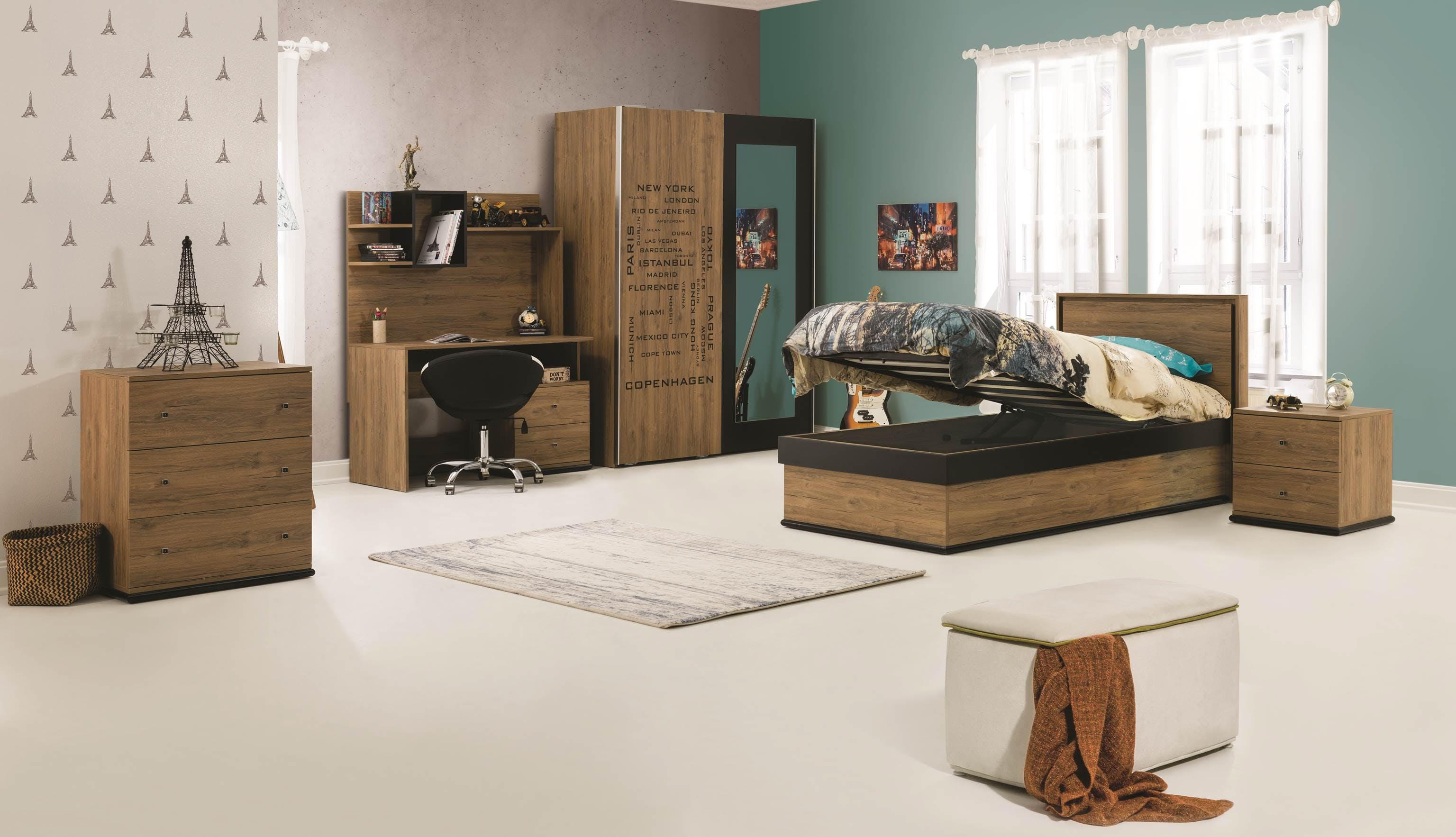 Image of: Build a Single Bed with Storage