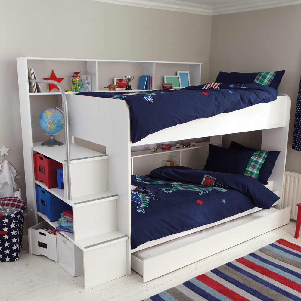 Picture of: Bunk Bed with Storage and Trundle
