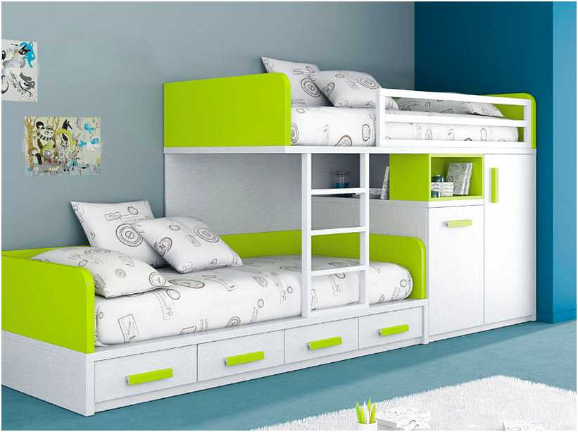 Picture of: Bunk Bed with Storage for Kids