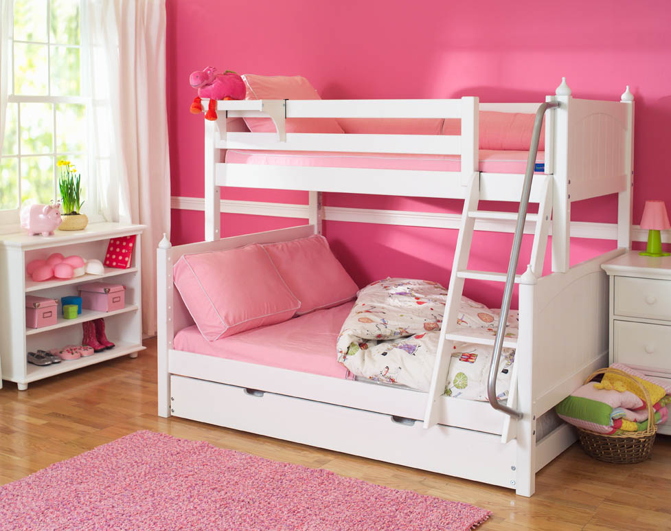 Bunk Beds Twin Over Full With Storage Cute