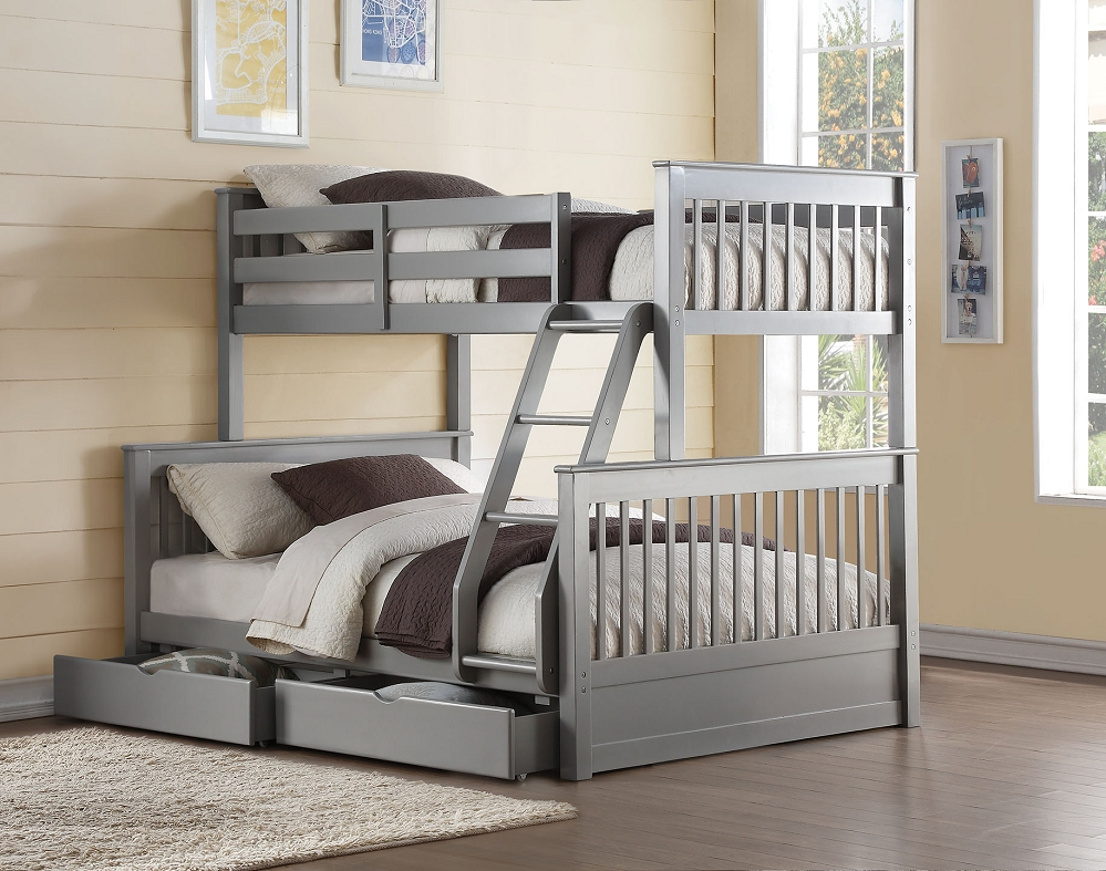 Image of: Bunk Beds Twin Over Full With Storage Innovation