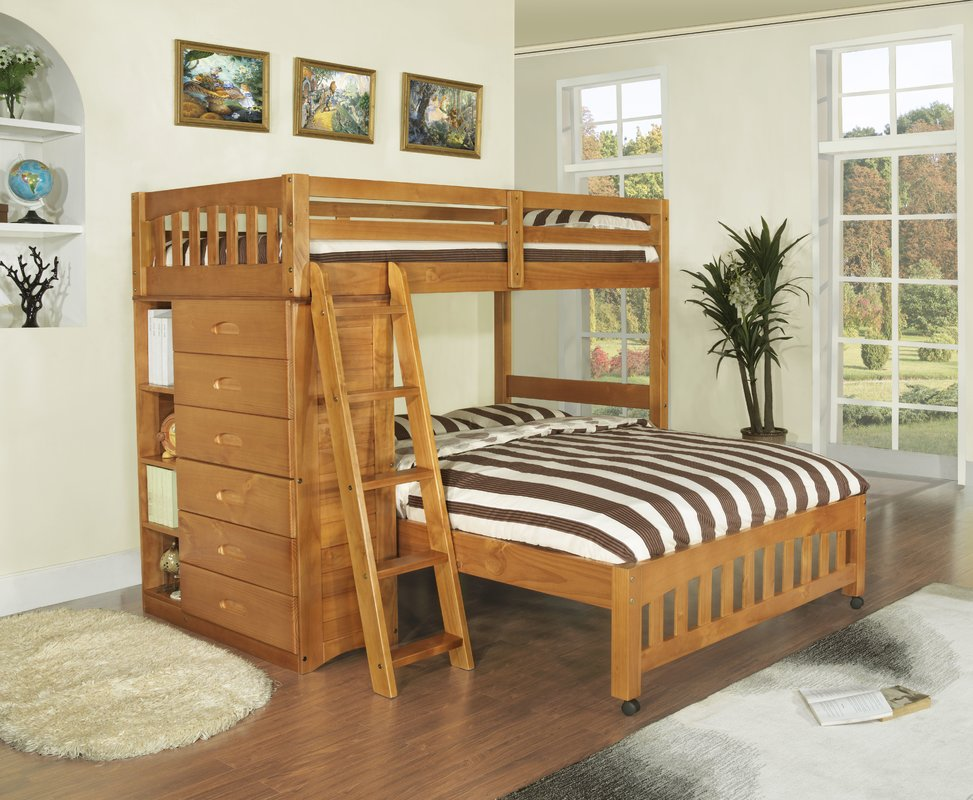 Image of: Bunk Beds Twin Over Full With Storage Kids