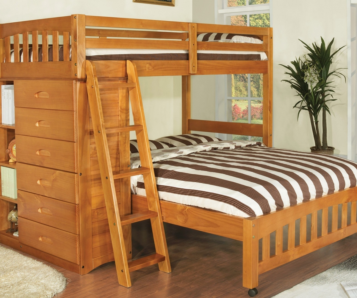 Image of: Bunk Beds Twin Over Full With Storage Large
