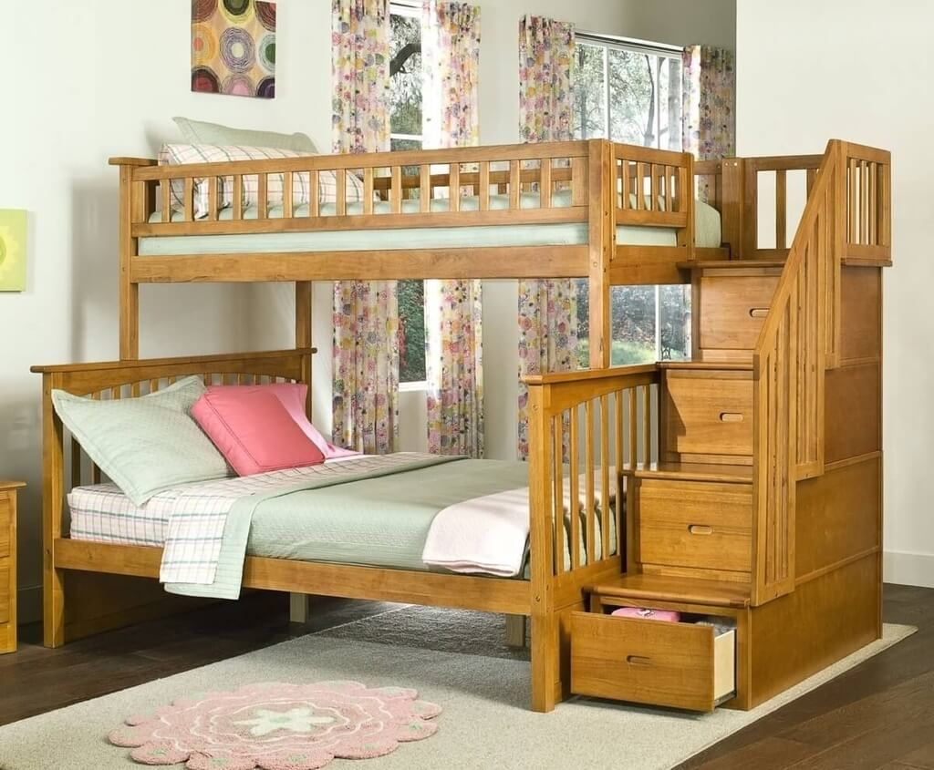 Image of: Bunk Beds Twin Over Full With Storage Popular