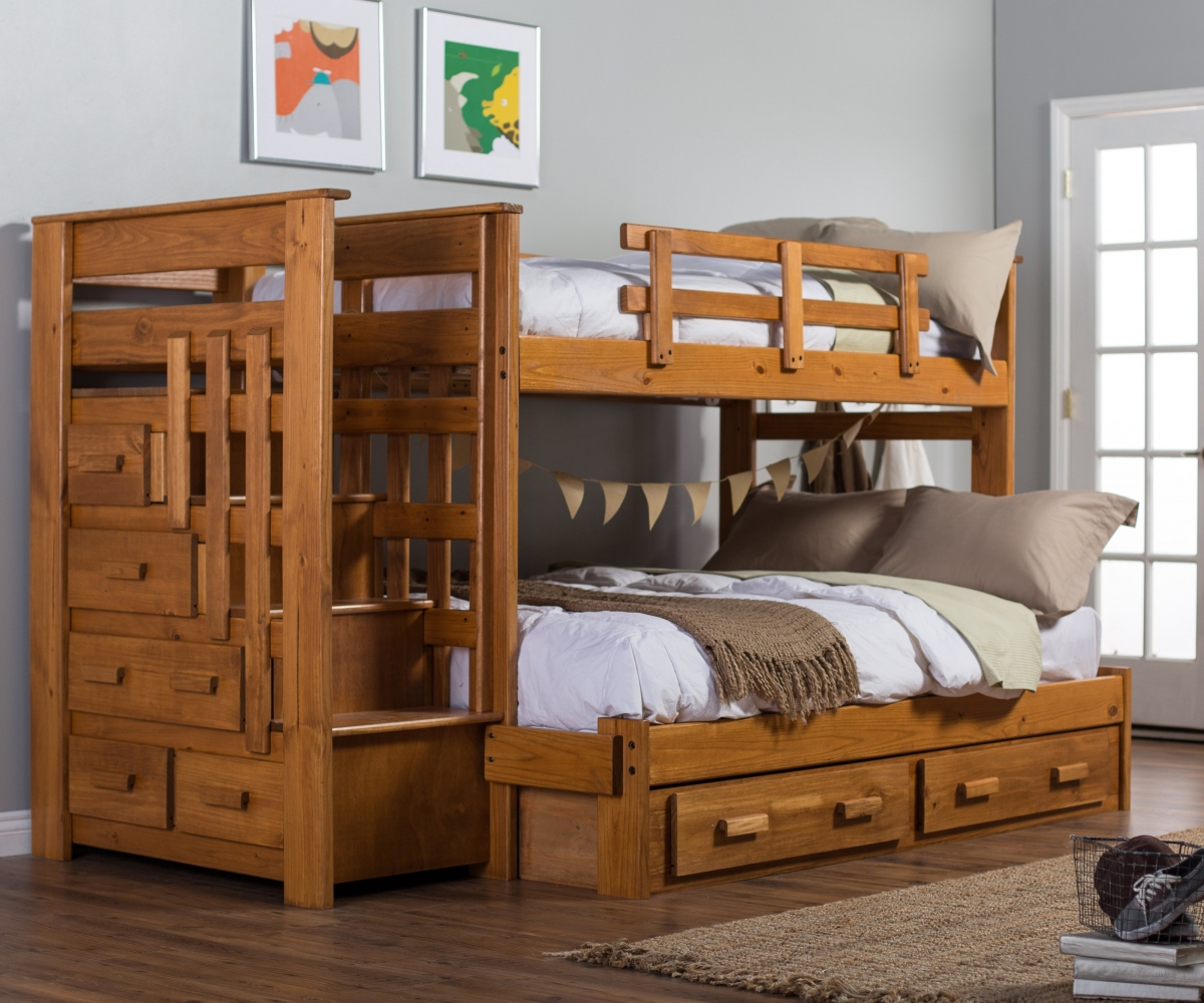 Image of: Bunk Beds Twin Over Full With Storage Stylish