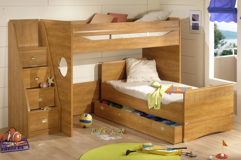 Image of: Bunk Beds With Stairs And Storage