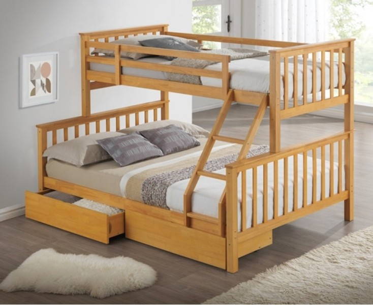 Image of: Bunk Beds With Storage Drawers