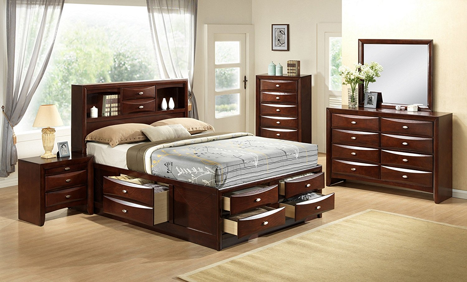 Image of: California King Storage Bed Queen