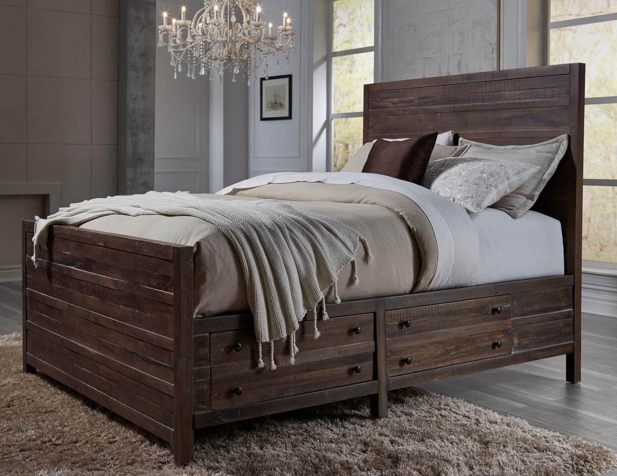 California King Storage Bed with Storage