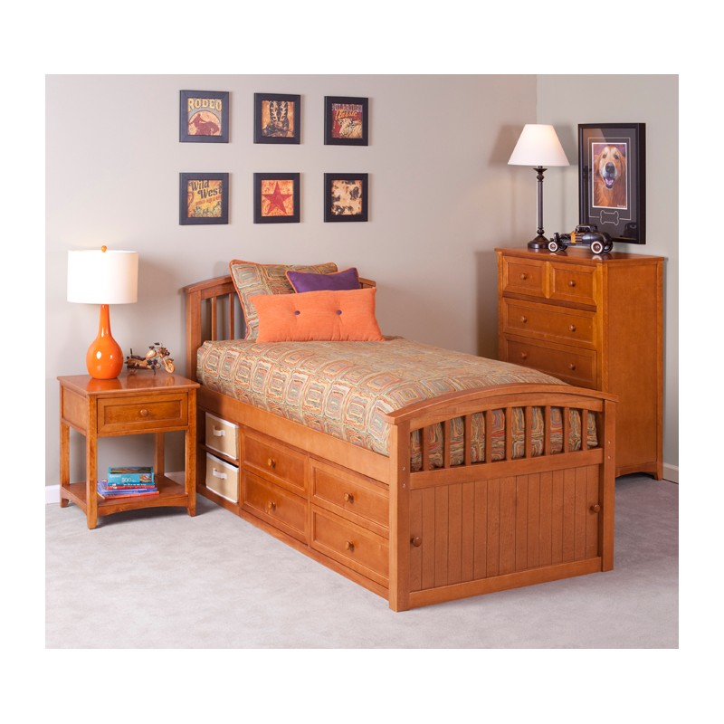 Captain Bed With Storage Sets
