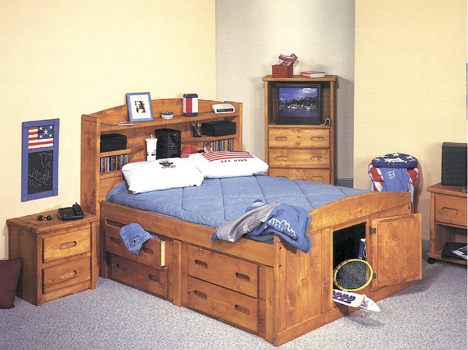 Picture of: Captain Bed With Storage Size
