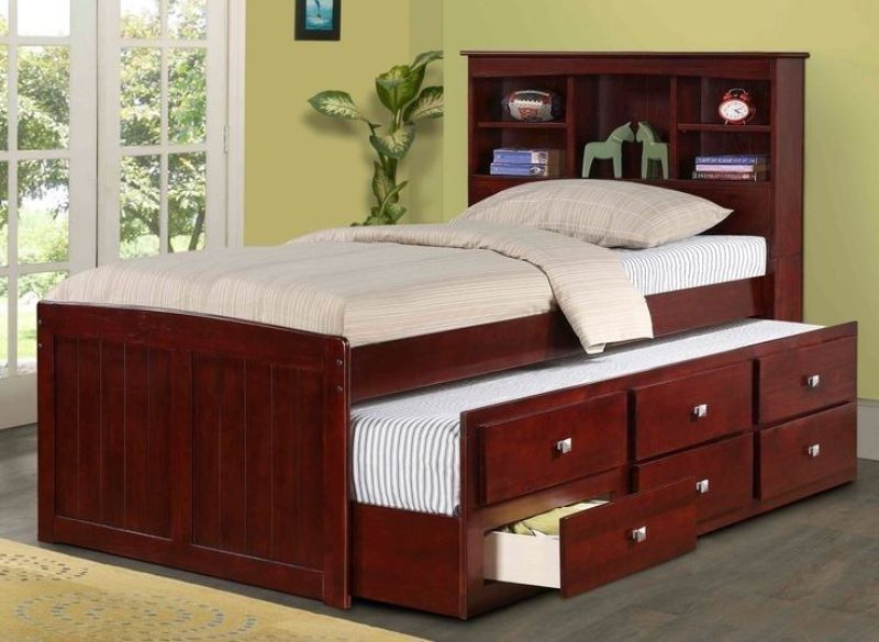 Image of: Captain Bed With Trundle And Storage