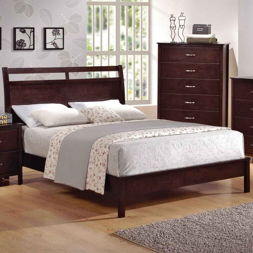 Image of: Cherry Full Beds With Storage