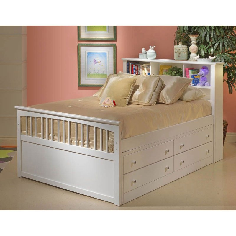 Picture of: Classic White Twin Storage Bed