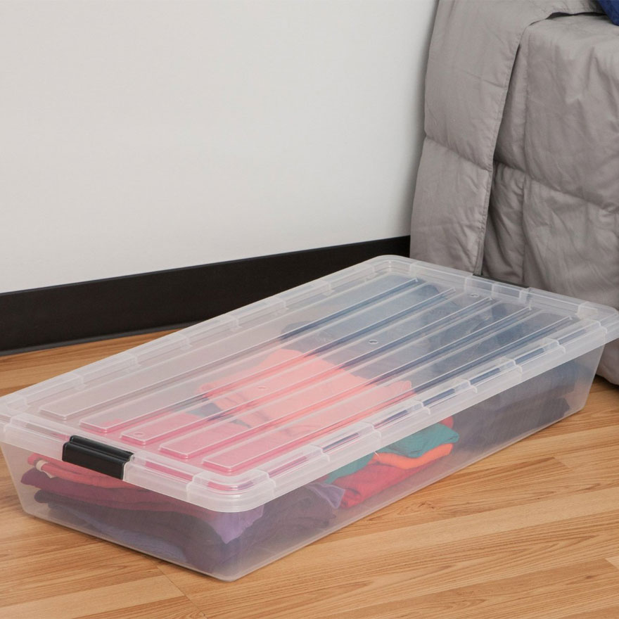Picture of: Clear Under Bed Storage