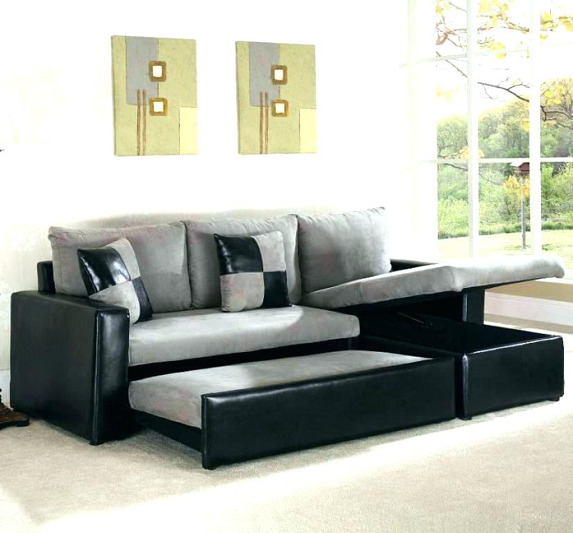 Image of: Convertible Sofa Bed with Storage and Trundle