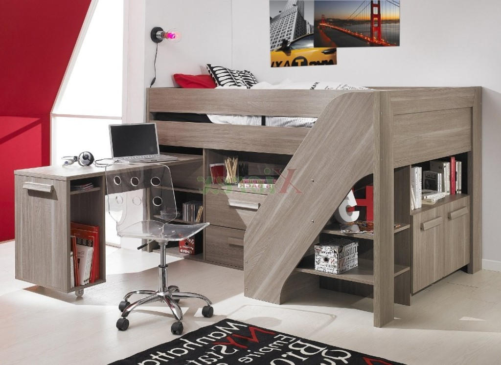 Image of: Cool Full Size Loft Bed with Storage