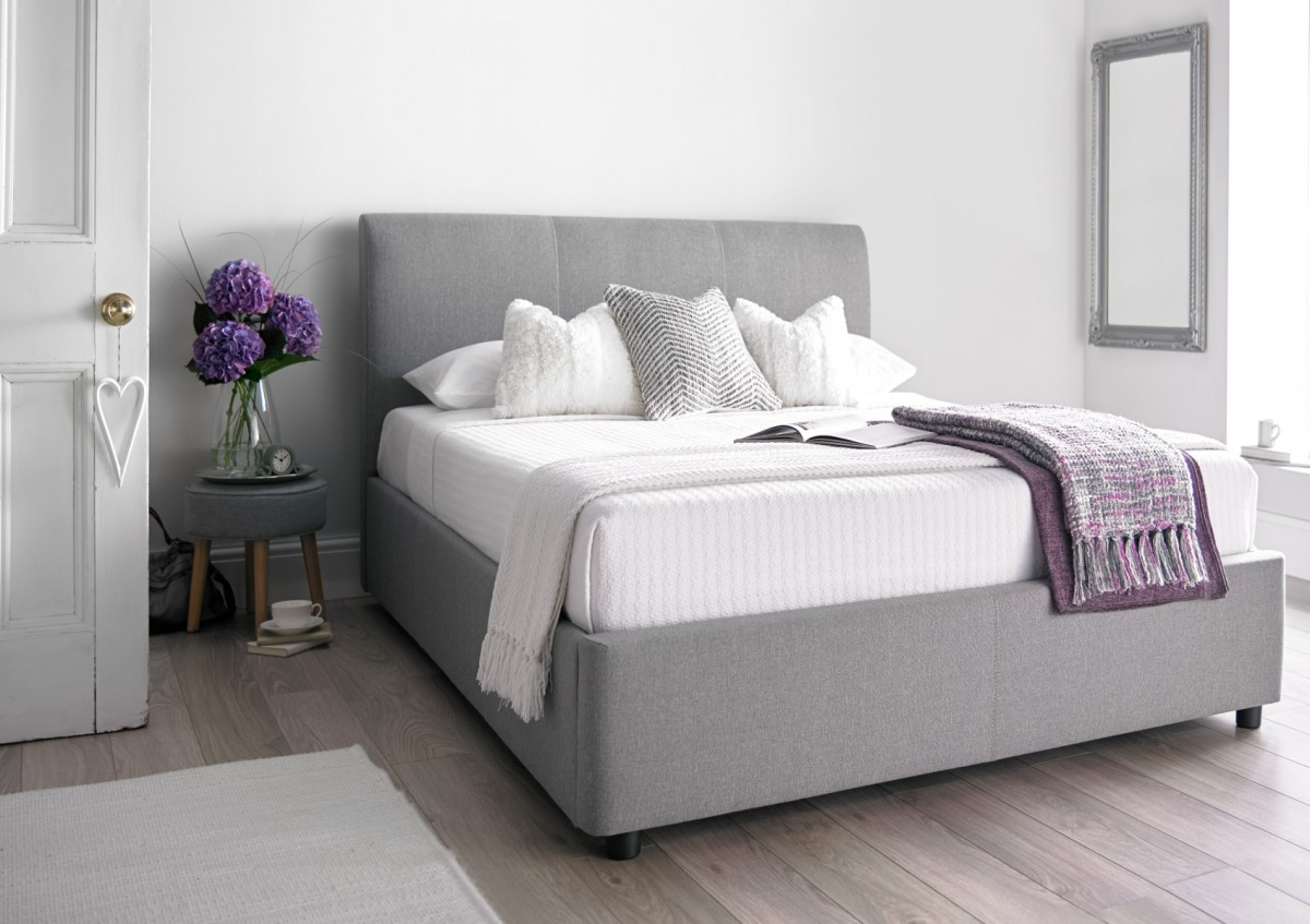 Picture of: Cool Grey Storage Bed