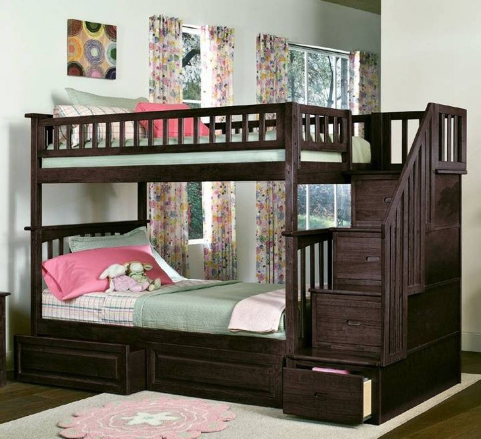 Image of: Corner Twin Beds with Storage Decor