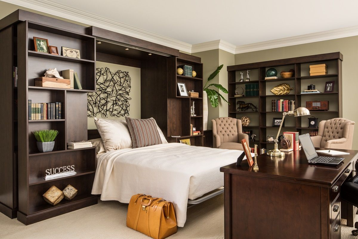 Image of: Cozy Murphy Bed With Storage