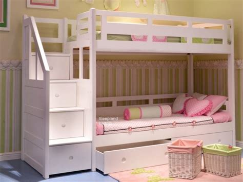 Image of: Custom Bunk Bed with Storage Stairs