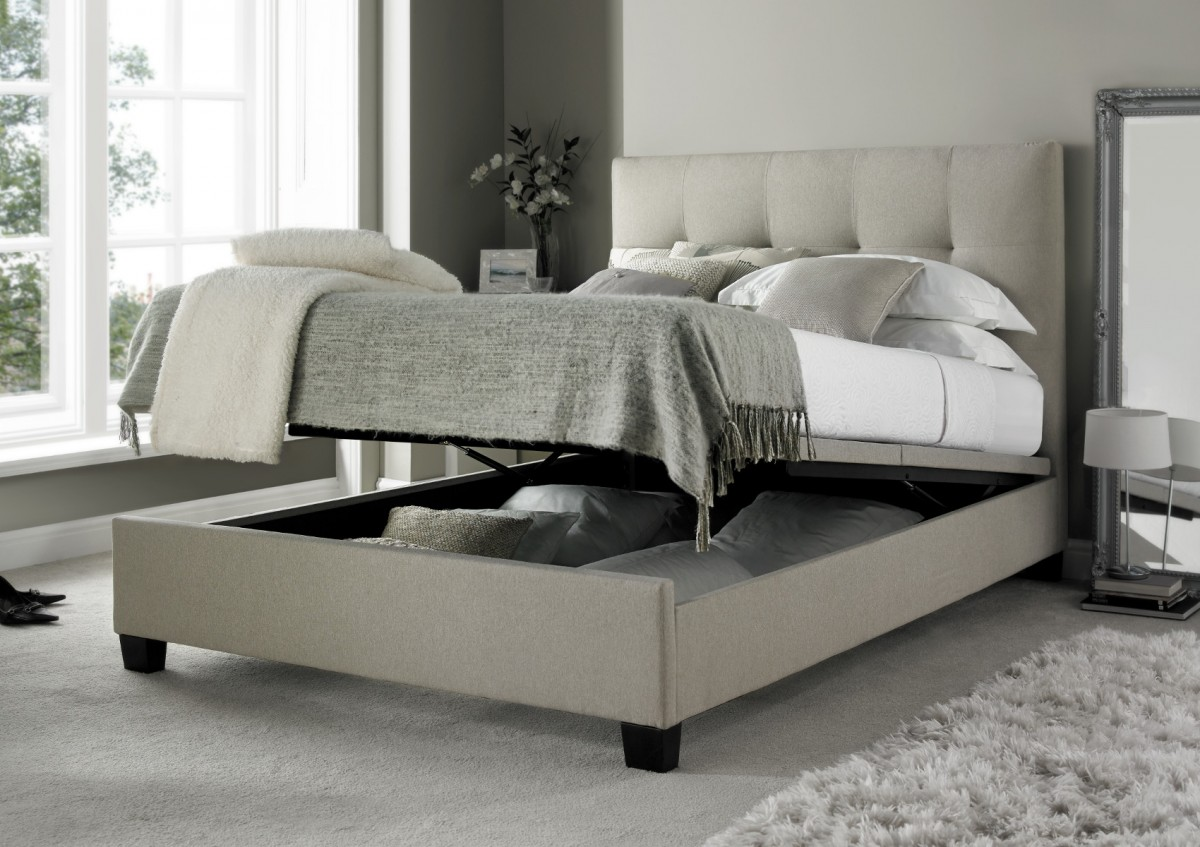 Picture of: Custom Ottoman Storage Bed