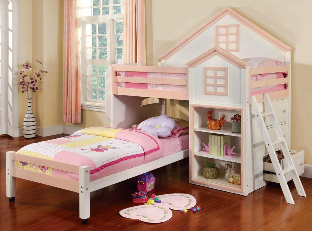 Picture of: Cute Kids Bunk Beds with Storage
