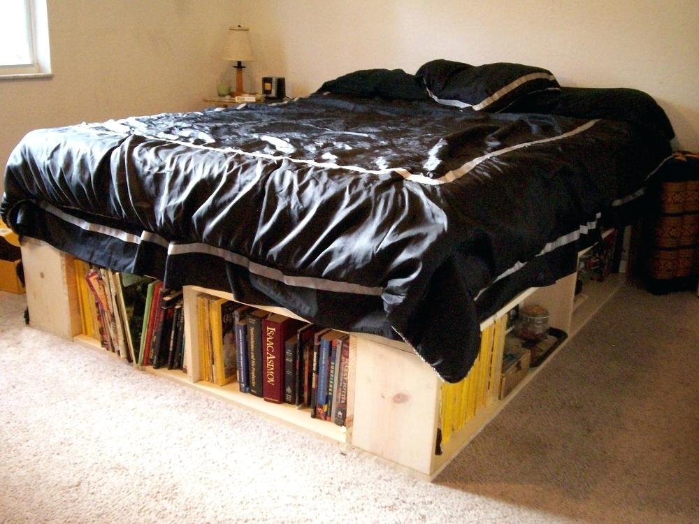Image of: DIY Bed Frame with Storage Full