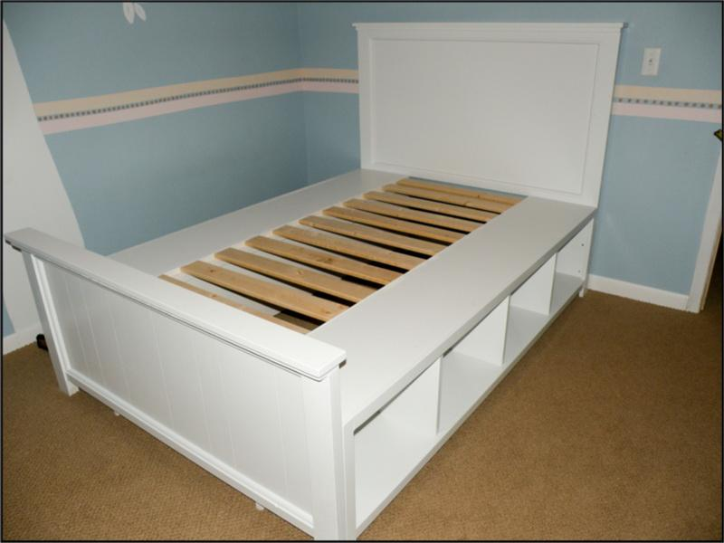 Image of: DIY Bed Frame with Storage King