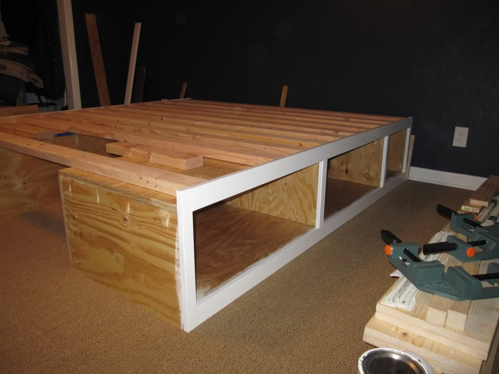 DIY Queen Platform Storage Bed Plans