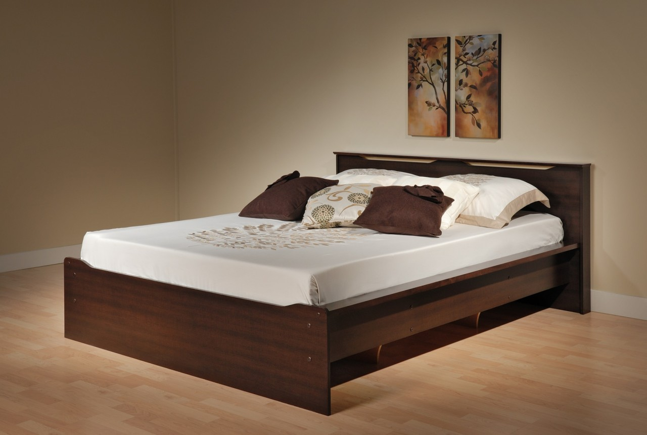 Image of: Dark Full Beds With Storage