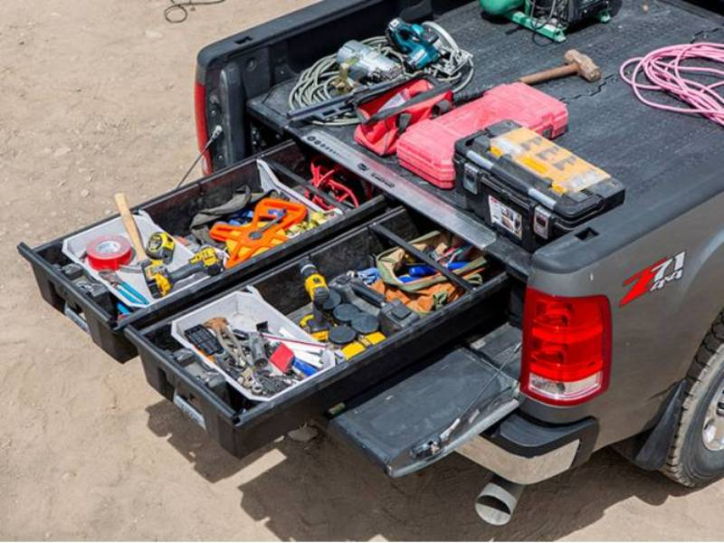 Image of: Decked Dodge Ram Truck Bed Storage System