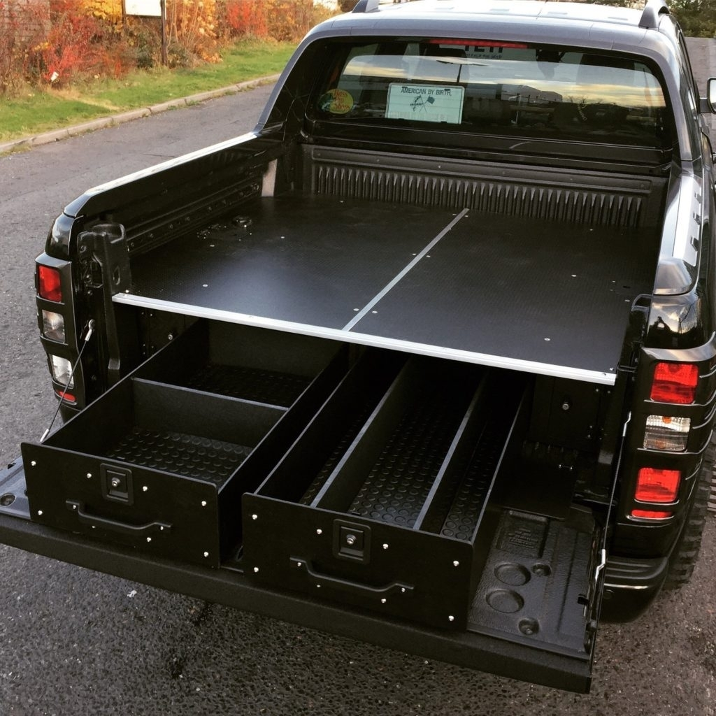 Image of: Decked Truck Bed Storage Black
