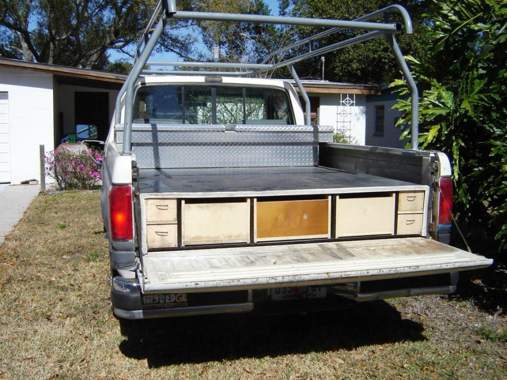 Image of: Decked Truck Bed Storage Diy
