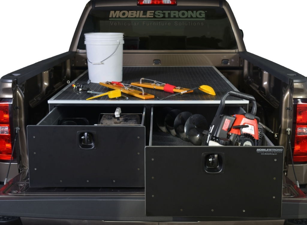 Image of: Decked Truck Bed Storage Idea