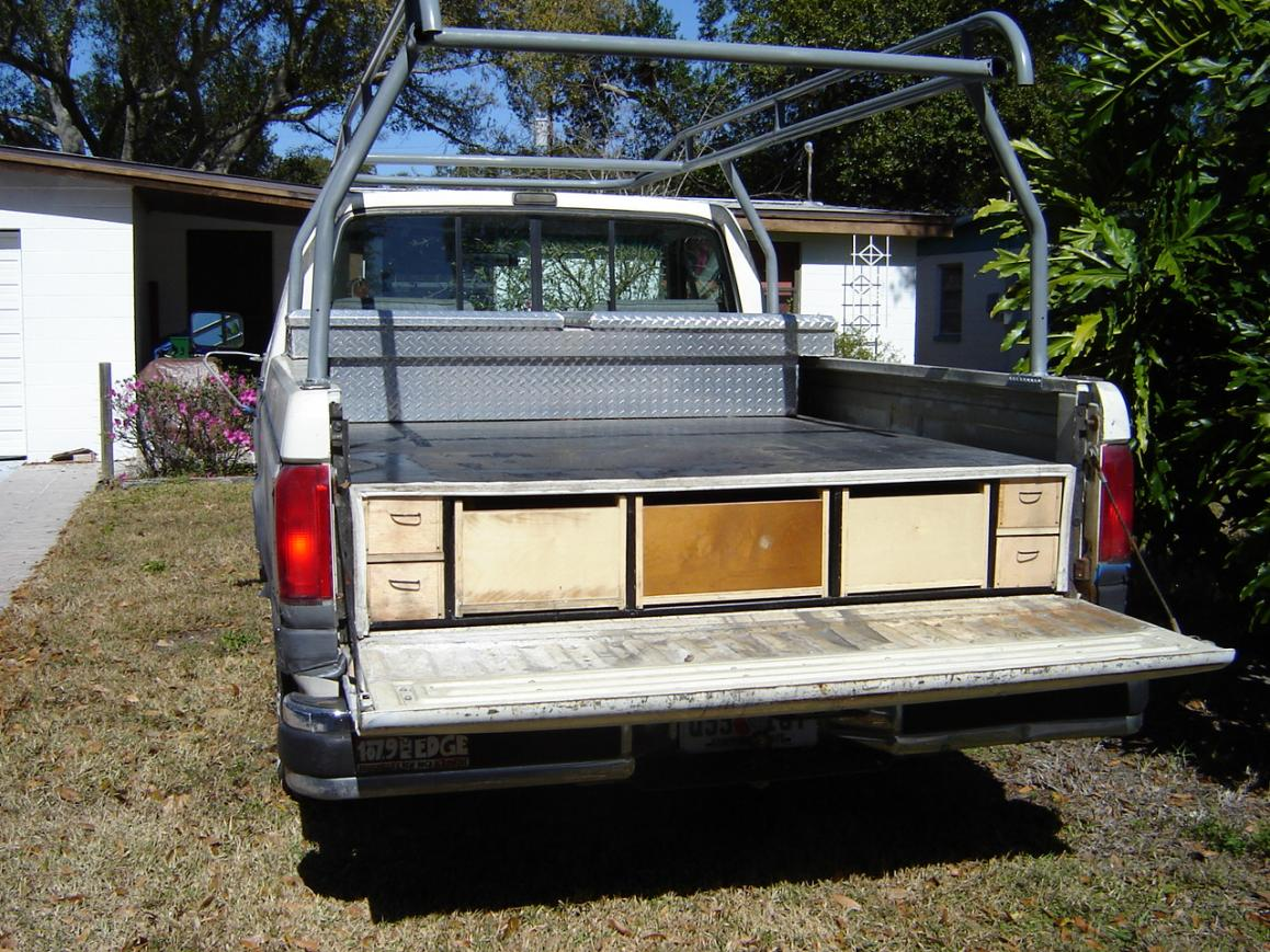 Image of: Decked Truck Bed Storage Ideas