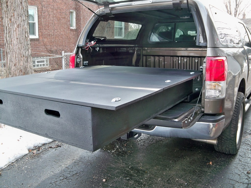 Image of: Decked Truck Bed Storage Install