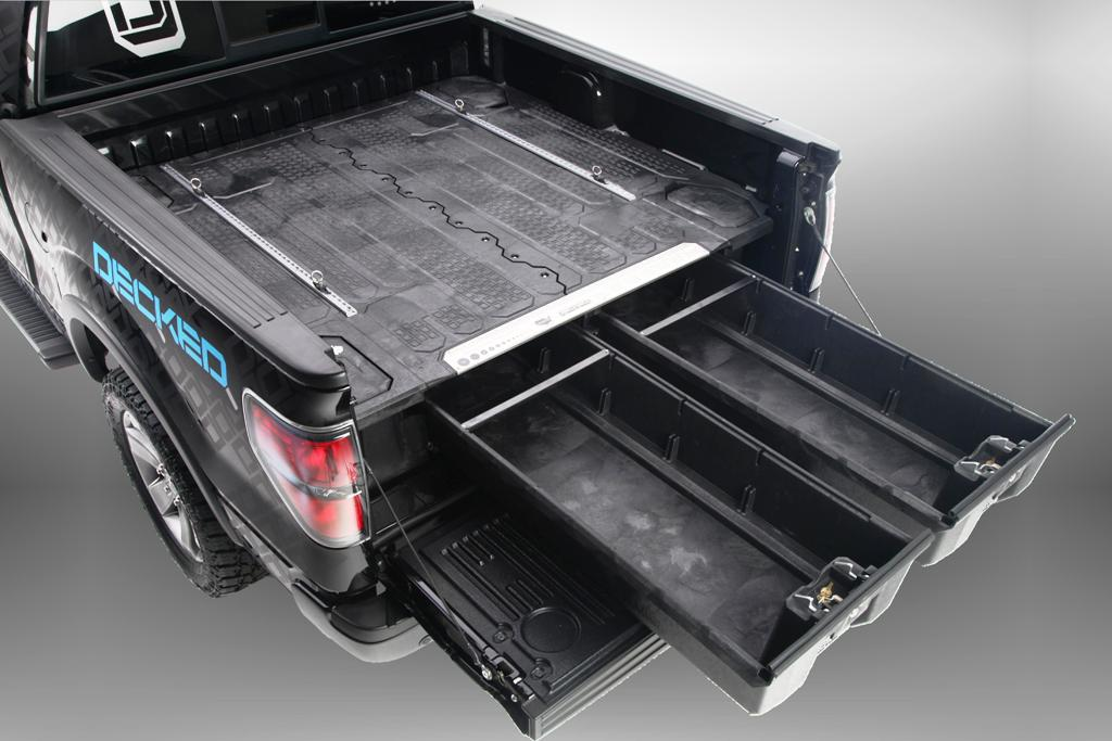 Image of: Decked Truck Bed Storage Size