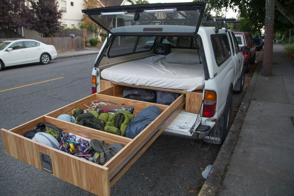 Image of: Decked Truck Bed Storage Wood