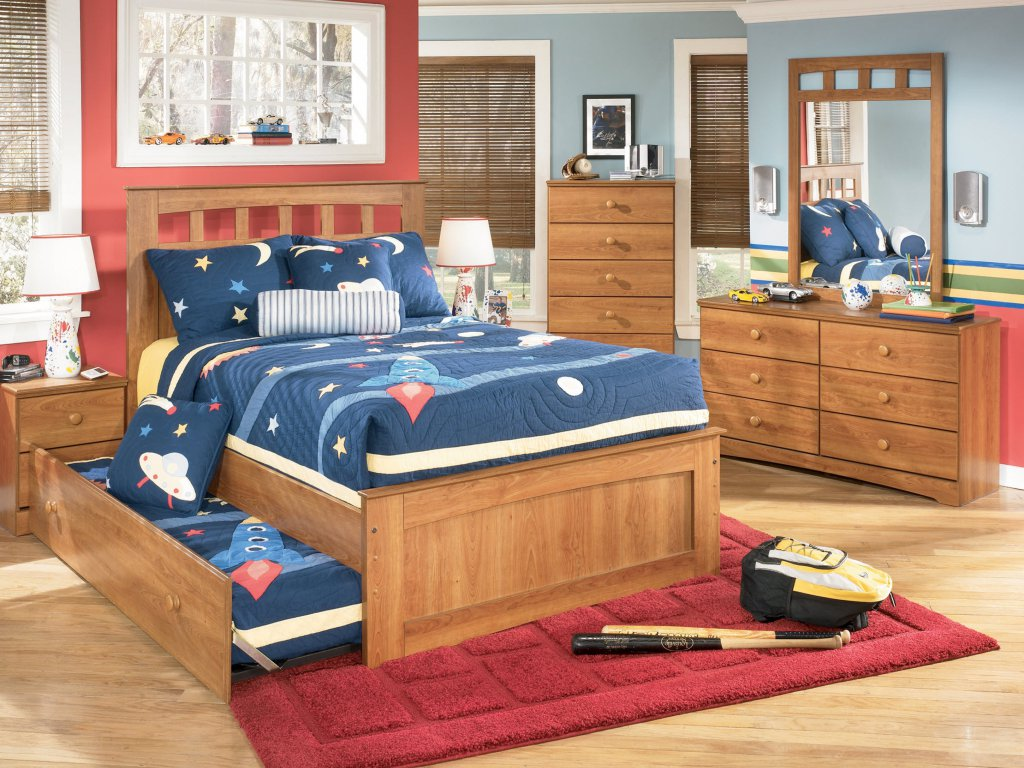 Image of: Desk Corner Storage Bed