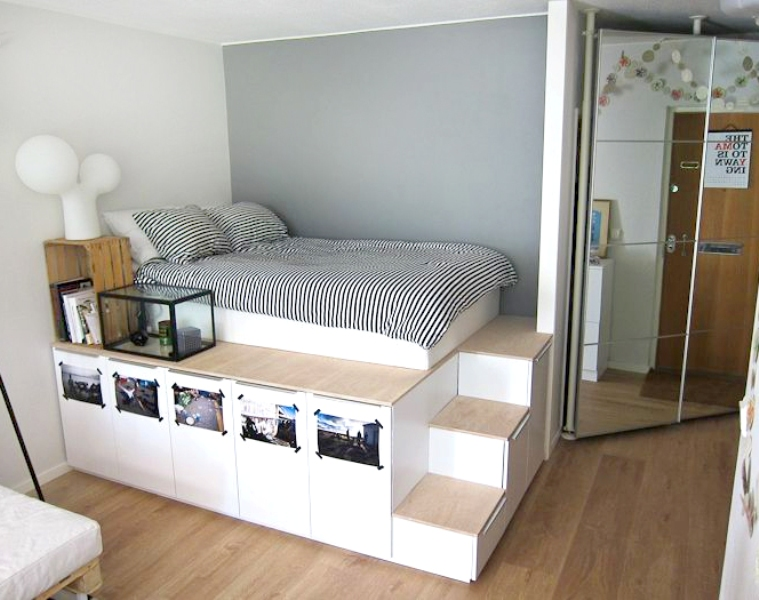 Picture of: Diy Storage Bed Ikea Hack