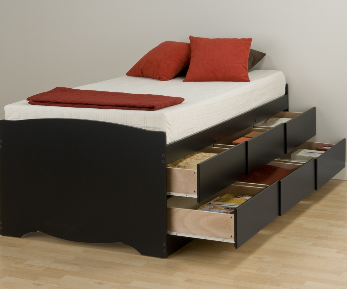 Image of: Diy Twin Bed Frame With Storage Best