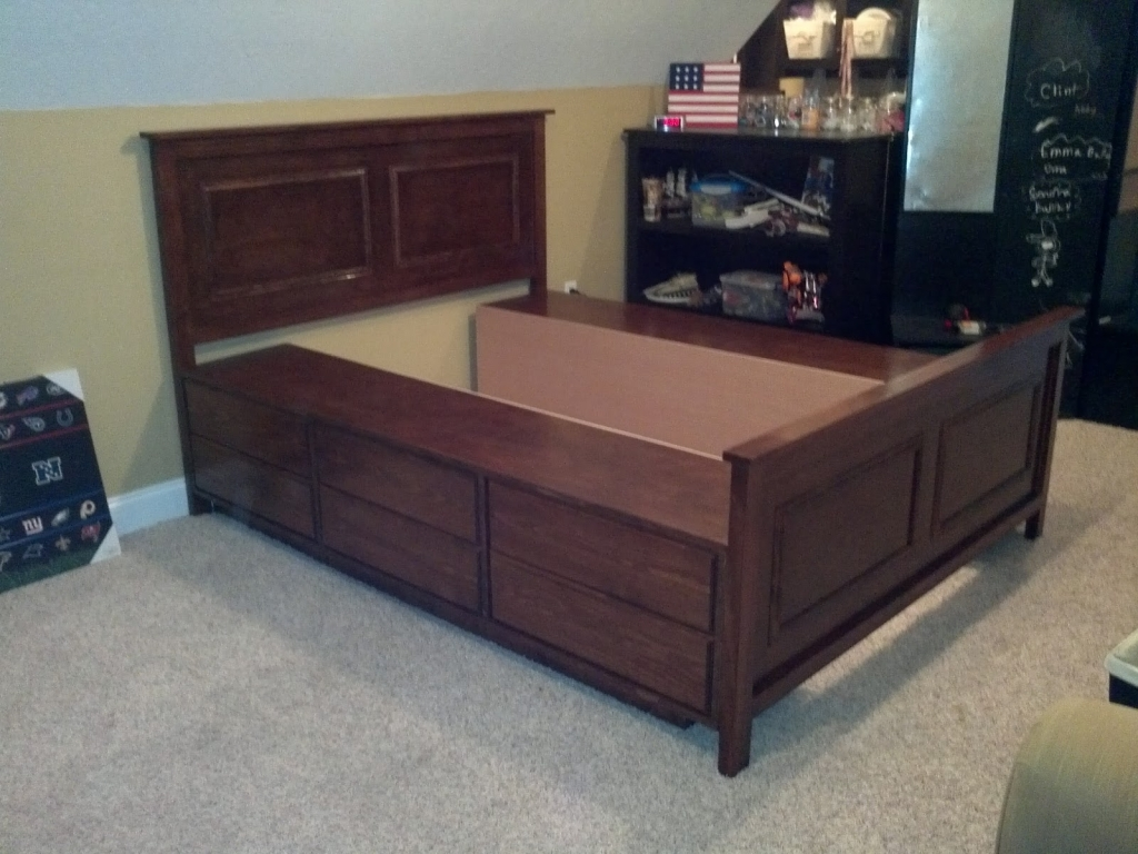 Image of: Diy Twin Bed Frame With Storage Innovative