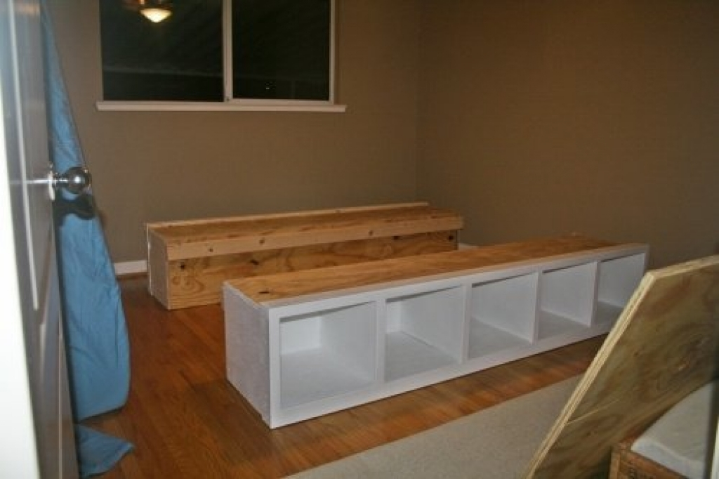 Image of: Diy Twin Bed Frame with Storage Plans