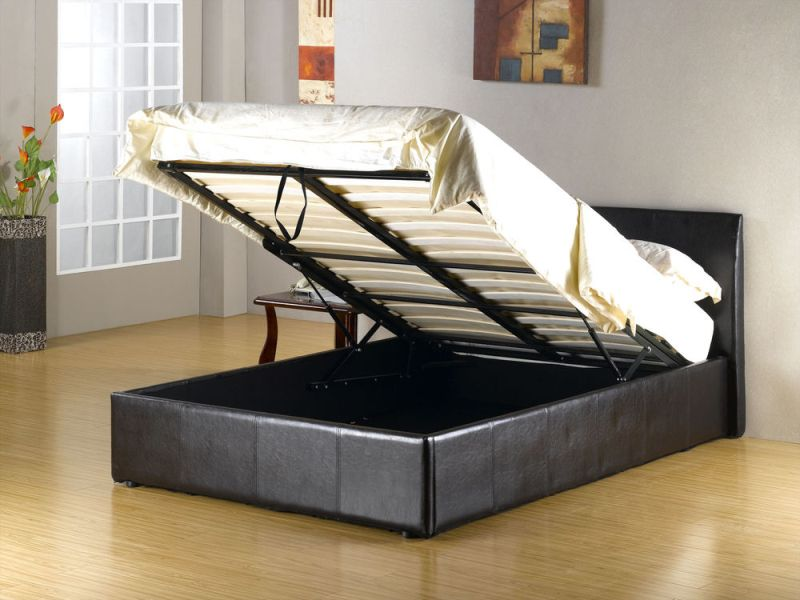 Image of: Double Ottoman Storage Bed