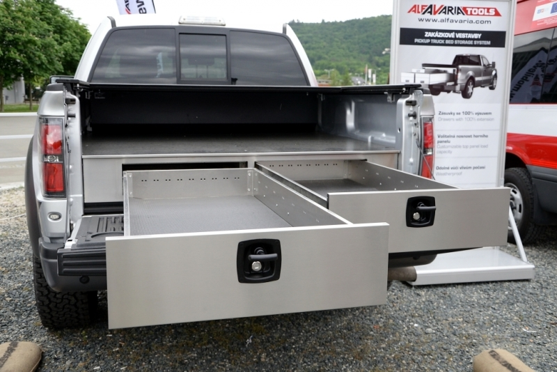 Image of: Durakon Slide Out Truck Bed Storage